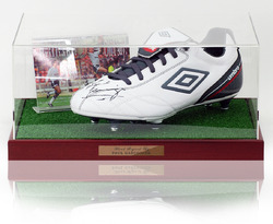 Paul Gascoigne hand signed Tottenham Hotspur football boot presentation
