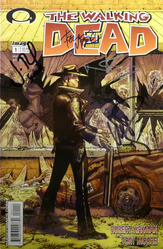 Image, The Walking Dead #1, Vol. #1, 1st printing comic book, signed by Michael Rooker, Norman Reedus, Jon Bernthal, and Robert Kirkman