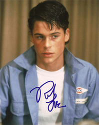 Rob Lowe signed 10x8 photo