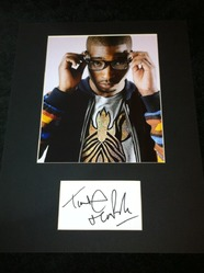 Tinie Tempah mounted index card