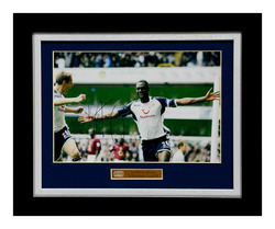 "LEDLEY KING Hand Signed Tottenham Football Framed 12x8"" Photo"