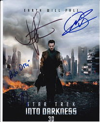 STAR TREK INTO DARKNESS Autographs signed in person 10 x 8 photo by 4