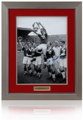 Jeff Whitefoot Hand Signed 16x12 NOTTINGHAM FOREST 1959 FA Cup Photo