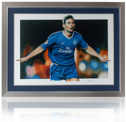 Frank Lampard hand signed art print