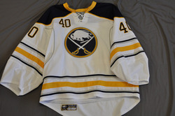 Patrick Lalime Game Worn Buffalo Sabres Away Jersey 2010-11 Season Set 3 Size 58G Serial #4237