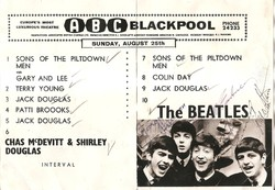 Beatles ABC Blackpool program signed 2285
