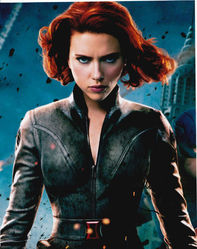 Scarlett Johansson as Black Widow in The Avengers Signed 10x8 Photo
