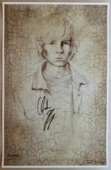11x17 Chandler Riggs limited print by artist D'Angelo Roman, signed by Chandler Riggs and D'Angelo Roman