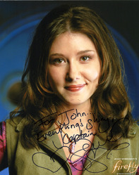 Firefly, 8x10 Jewel Staite signed photograph