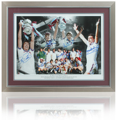 "23x17"" West Ham United 1981 FA Cup Montage hand signed by 11"