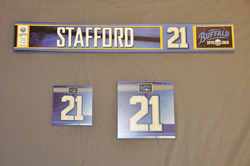 Drew Stafford Buffalo Sabres Locker Room Nameplate, Stick Plate, Dry Stall Plate 2010-11 Season