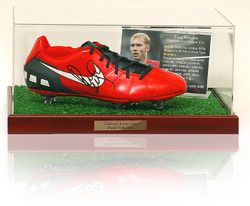 PAUL SCHOLES Hand Signed football Boot