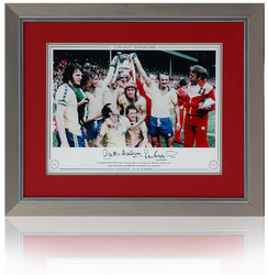 Rodrigues & McCalliog Hand Signed Southampton 1976 FA Cup Final