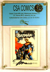 Classic Covers #59 card signed by Jim Lee