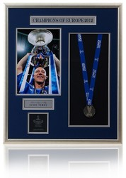 Large Hand Signed JOHN TERRY Champions League Medal Presentation.