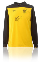 RANGERS F.C. Goalkeeper Shirt Hand Signed by ANDY GORAM