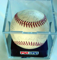 1965 New York Yankees Autographed Team signed Baseball PSA