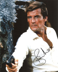 Roger Moore signed 10x8 photo.