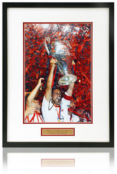 "Paolo Maldini Hand Signed AC Milan 12x8"" Framed European Cup Photo"