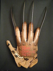 Freddy Kruger Official Replica Glove signed by Robert Englund