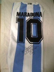 Diego maradona signed Argentina Home No. 10 Shirt