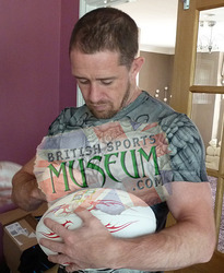 Shane Williams Signs Lions Ball