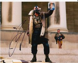 Tom Hardy as Bane in The Dark Knight Rises Signed 10x8 Photo