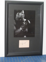 Joe Louis Signed Album Page