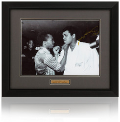 "Sugar Ray Leonard hand signed 16x12"" Muhammad Ali photo"