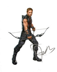 Jeremy Renner signed 10x8 photo