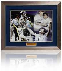 Glenn Hoddle hand signed Spurs montage