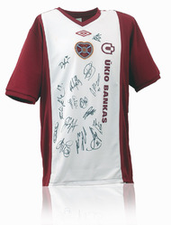 Heart of Midlothian Hand Signed 2010/11 Away Shirt