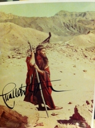 "Charles Heston signed 10x8 colour photos as ""Moses"""