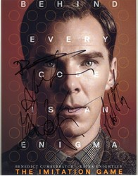 The Imitation Game Autographed By 6 SIGNED IN PERSON 10x8 Photo