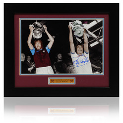 BILLY BONDS Hand Signed West Ham Utd FA Cup Montage