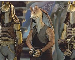 Ahmed BEST AUTOGRAPH STAR WARS SIGNED IN PERSON 10x8 photo