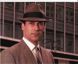 Jon Hamm Autograph MAD MEN signed in person 10 x 8 photo