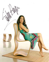 Salma Hayek signed 10x8 photo.