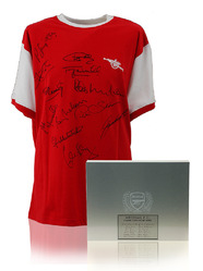 Arsenal Retro Home Shirt hand signed by 12 Legends.