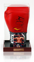 David Haye Hand Signed Boxing Glove in display case