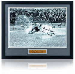"Tom Finney Hand Signed 12x8"" Preston North End Framed Photograph"