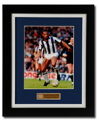 Cyrille Regis hand signed WBA photograph