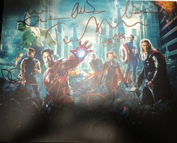The Avengers 10x8 Photo Signed In Person by 8