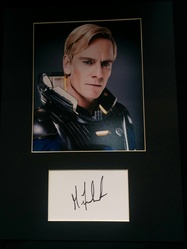 Michael Fassbender Signed Index Card PROMETHEUS Presentation