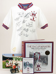 1980 WEST HAM United FA Cup Final Shirt HAND SIGNED x11 Limited Edition Box Set