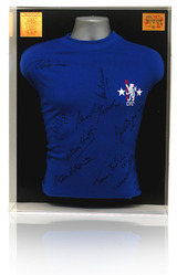 Chelsea 1971 Hand Signed ECWC Final Shirt Display