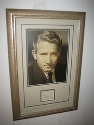 Spencer Tracy Signed Album Page