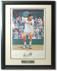 Tim Henman hand signed Art Print