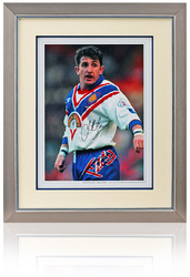 "Jonathan Davies hand signed 16x12"" Great Britain Rugby League Photograph"