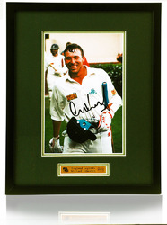 Mike Atherton England Cricket signed framed photo